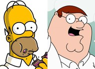 Animações: clipes dos episódios finais das temporadas de Simpsons e Family Guy!